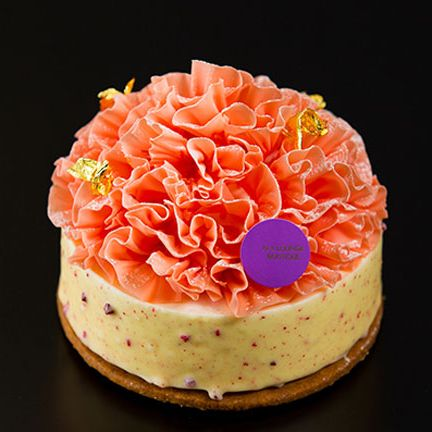 Food, Orange, Sweetness, Icing, Cake, Pink, Dessert, Cuisine, Buttercream, Dish,