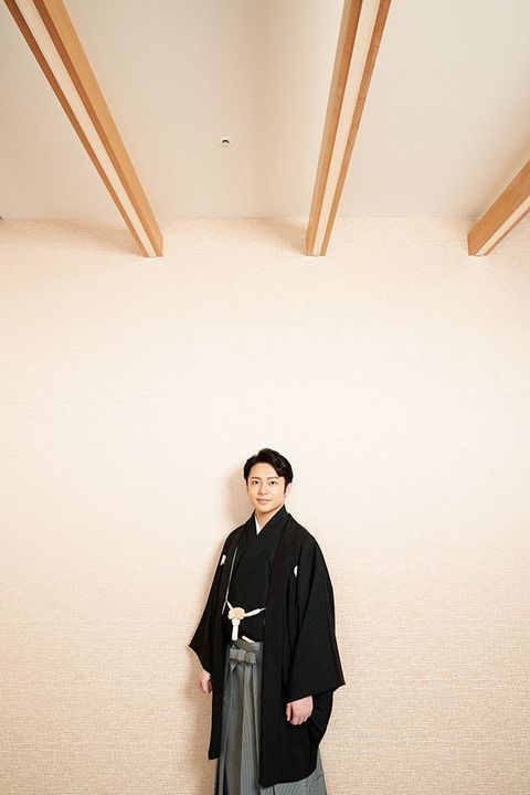 White, Standing, Outerwear, Room, Ceiling, Robe, Kimono, Photography, Uniform, Costume,