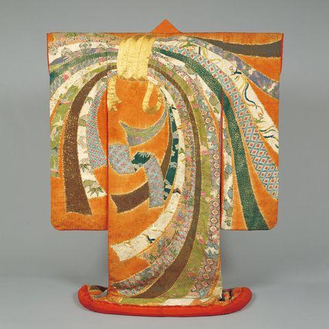 Modern art, Orange, Yellow, Art, Textile, Painting, Visual arts, Paint,