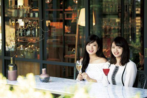 Snapshot, Beauty, Photography, Restaurant, Black hair, Smile,