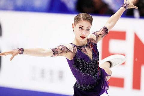 Sports, Ice skating, Figure skating, Ice dancing, Figure skate, Skating, Individual sports, Leotard, Recreation, Axel jump,
