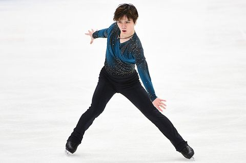 Ice skating, Figure skating, Figure skate, Skating, Recreation, Jumping, Ice dancing, Leg, Tights, Sportswear,