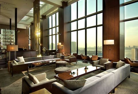 Interior design, Building, Room, Property, Living room, Lobby, Architecture, Furniture, Design, House,