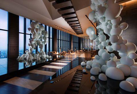 Interior design, Architecture, Ceiling, Building, Room, Design, Lobby, Floor, House,