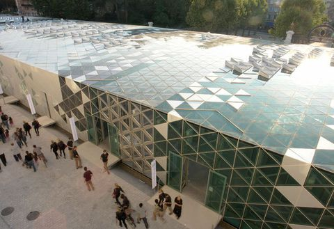 Architecture, Wall, Urban design, Design, Tree, Daylighting, Building, Reflection, Pavilion, Tourist attraction,
