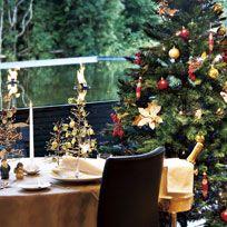 Christmas tree, Christmas decoration, Tree, Christmas, Room, Plant, Table, Home, Interior design, Houseplant,