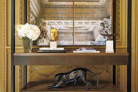 Shelf, Shelving, Furniture, Sofa tables, Table, Interior design, Picture frame, Antique, Room, Bookcase,