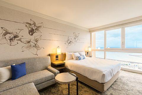 Bedroom, Room, Furniture, Property, Interior design, Bed, Wall, Real estate, Suite, Building,