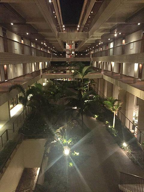 Architecture, Lighting, Building, Night, Tree, Plant, Lobby, Interior design, City,