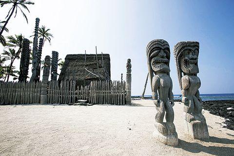 Sculpture, Statue, Water, Tourism, Beach, Vacation, Tree, Sand, Rock, Sea,