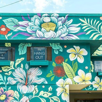 Green, Turquoise, Pattern, Visual arts, Art, Plant, Illustration, Flower, Floral design, Facade,