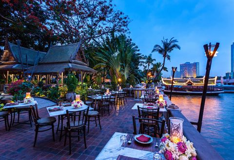 Restaurant, Vacation, Resort, Tourism, Waterway, Leisure, Building, Architecture, Travel, Table,