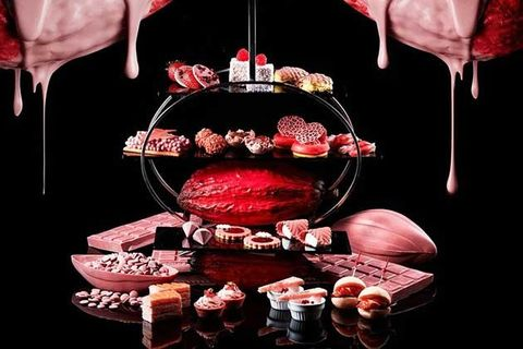 Red, Carmine, Dessert, Cuisine, Sweetness, Ingredient, Still life photography, Icing, Baked goods, Cake,