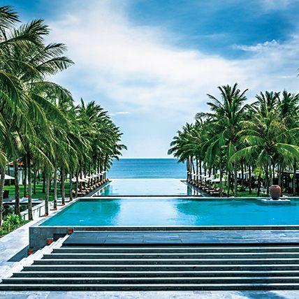 Swimming pool, Sky, Tree, Resort, Tropics, Vacation, Palm tree, Caribbean, Arecales, Sea,