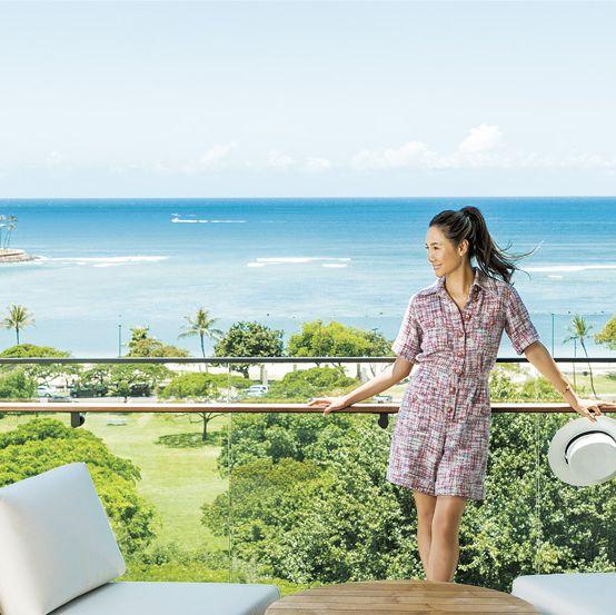 Dress, Coastal and oceanic landforms, Leisure, Summer, Outdoor furniture, Vacation, Azure, Travel, Ocean, Tropics,