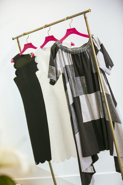Clothes hanger, Clothing, Room, Boutique, Umbrella, Costume design, Fashion design, Trousers,