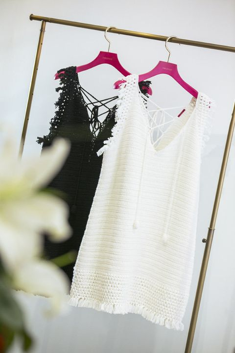 Clothes hanger, White, Clothing, Dress, Wedding dress, Pink, Bridal clothing, Outerwear, Fashion design, Bridal party dress,