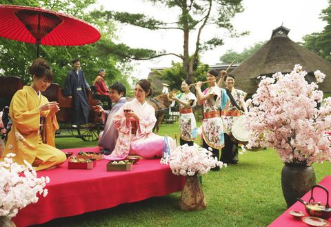 Event, Pink, Spring, Ceremony, Flower, Picnic, Recreation, Floral design, Flower Arranging, Plant,