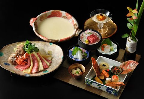Dish, Food, Cuisine, Meal, Ingredient, Kaiseki, Platter, Japanese cuisine, Sakana, Produce,