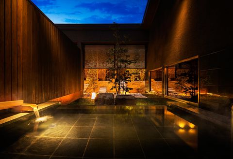Architecture, Light, Sky, Lighting, Interior design, Building, Design, Lobby, Night, House,