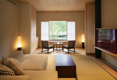 Room, Living room, Interior design, Furniture, Property, Floor, Ceiling, Building, House, Lighting,