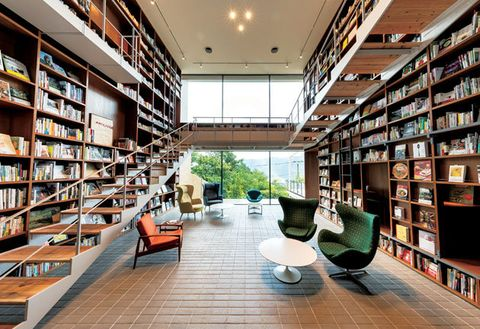 Building, Bookselling, Interior design, Bookcase, Library, Shelving, Public library, Shelf, Architecture, Furniture,