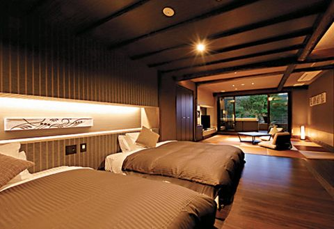 Bedroom, Room, Bed, Property, Furniture, Interior design, Building, Suite, Lighting, Architecture,