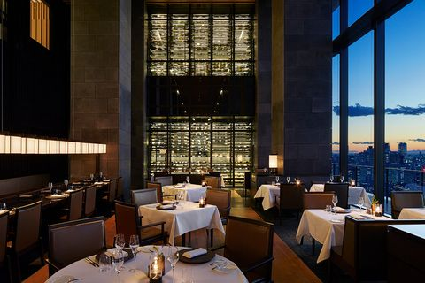 Restaurant, Building, Room, Architecture, Interior design, Business, Organization, Bar, Hotel, Table,