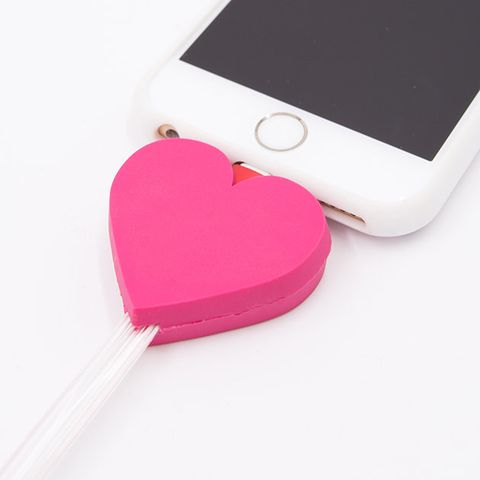 Pink, Heart, Electronics, Gadget, Electronic device, Technology, Magenta, Material property, Font, Ipod,