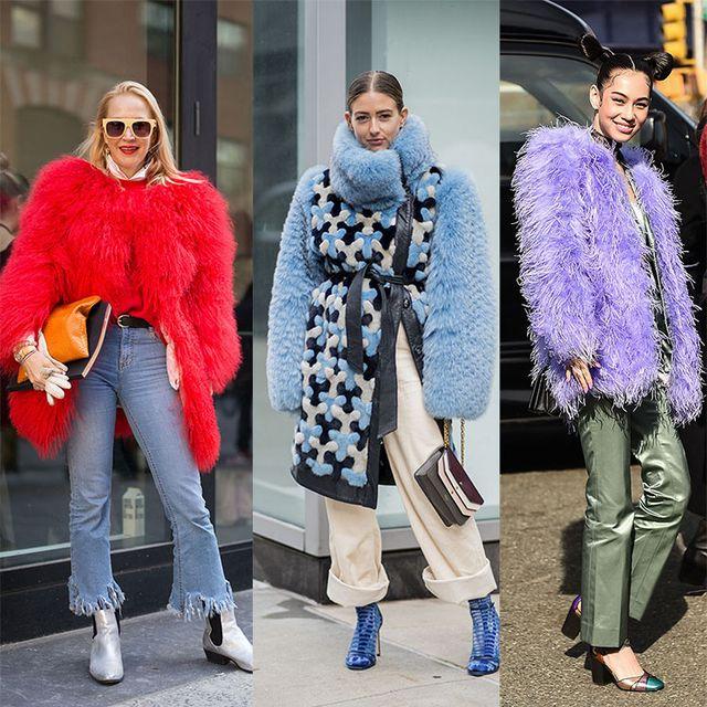 Fur, Clothing, Street fashion, Fur clothing, Fashion, Pink, Outerwear, Footwear, Coat, Textile,