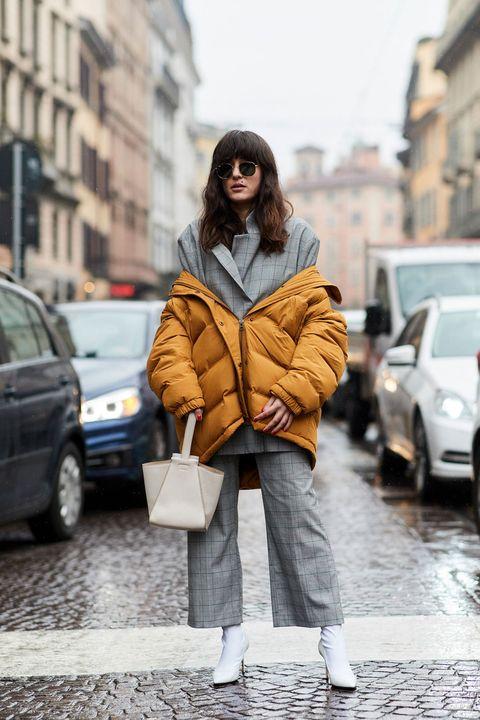 Photograph, Street fashion, Clothing, Fur, Yellow, Fashion, Snapshot, Coat, Outerwear, Fur clothing,