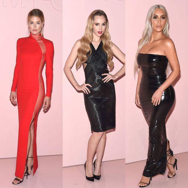 Fashion model, Clothing, Dress, Shoulder, Cocktail dress, Fashion, Latex clothing, High heels, Leg, Footwear,