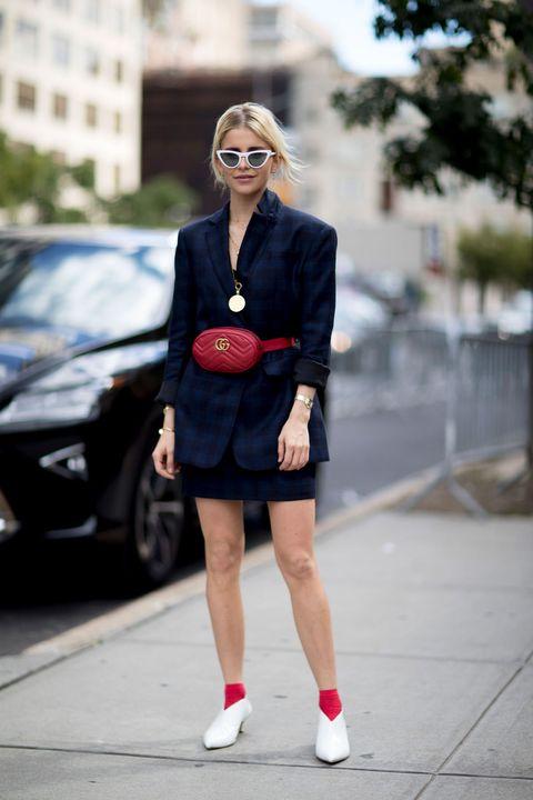 Street fashion, Clothing, Fashion, Red, Footwear, Snapshot, Sunglasses, Dress, Lip, Shoe,