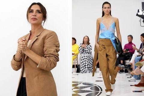 Fashion model, Clothing, Fashion, Shoulder, Fashion design, Dress, Model, Footwear, Beige, Neck,