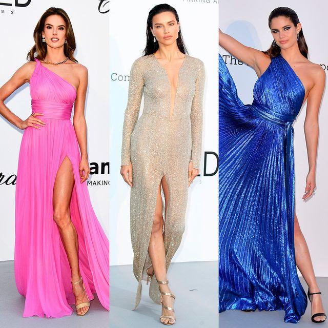Clothing, Footwear, Dress, Shoulder, Joint, Formal wear, Fashion model, Style, One-piece garment, Beauty,