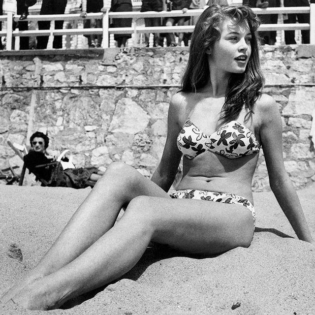 Photograph, Clothing, Bikini, Beauty, Model, Leg, Swimwear, Photo shoot, Human leg, Black-and-white,
