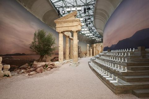 Building, Architecture, Column, Room, Interior design, Ceiling, Landscape, Arch, Rock, Tourist attraction,