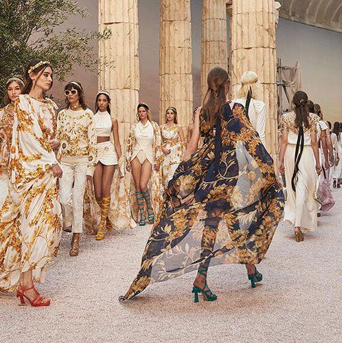Fashion, Event, Dress, Fashion design, Haute couture, Tradition, Fashion show, Runway, Art,