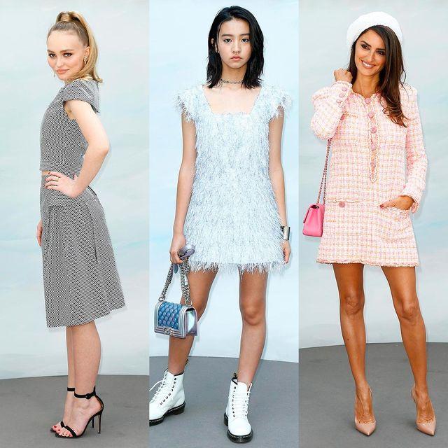 Clothing, White, Dress, Fashion model, Fashion, Footwear, Shoulder, Pink, Day dress, Cocktail dress,