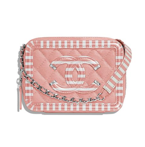 Bag, Pink, Handbag, Coin purse, Wristlet, Fashion accessory, Pattern, Peach, Luggage and bags, Beige,
