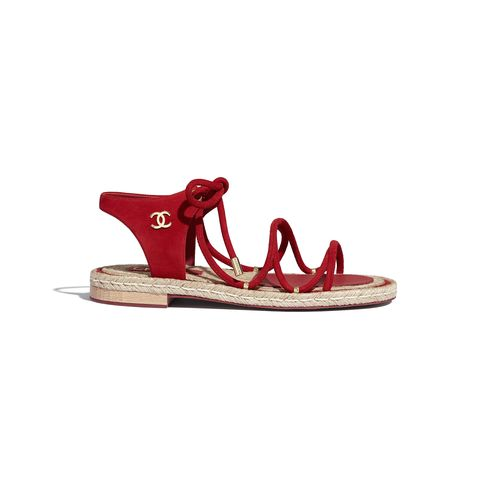 Footwear, Sandal, Red, Shoe, Slingback, High heels,