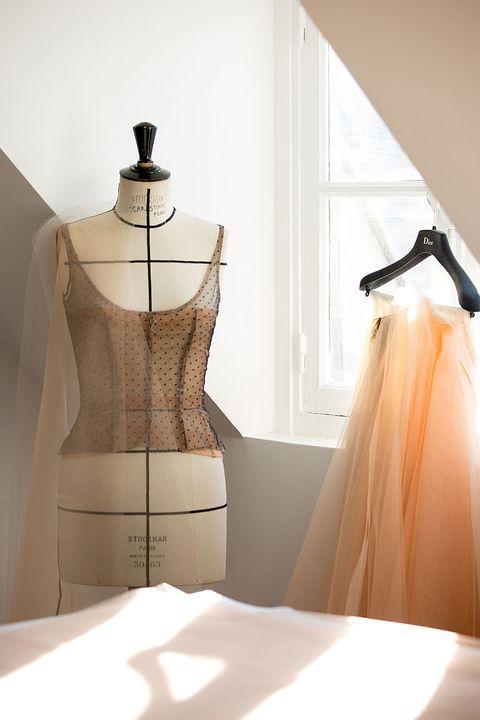 Clothing, Dress, Fashion, Shoulder, Room, Interior design, Mannequin, Furniture, Fashion design, Design,