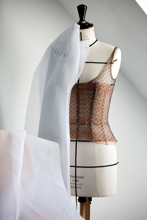White, Clothing, Shoulder, Outerwear, Design, Fashion design, Pattern, Mannequin, Dress, Pattern,