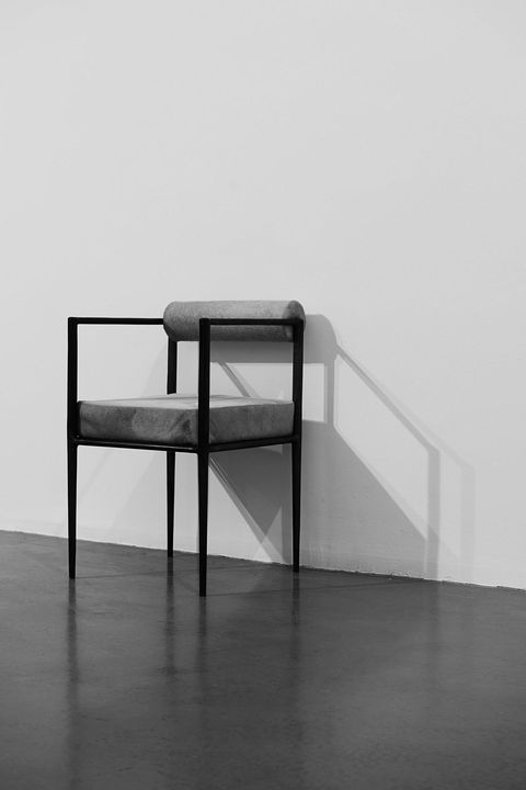 White, Black, Furniture, Line, Table, Design, Chair, Material property, Black-and-white, Monochrome,
