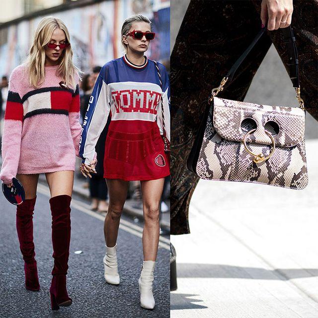 Street fashion, Eyewear, Fashion, Clothing, Red, Footwear, Sunglasses, Joint, Leg, Shoe,