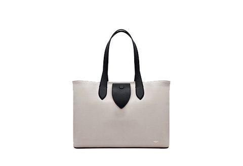 Handbag, Bag, White, Tote bag, Leather, Fashion accessory, Beige, Shoulder bag, Luggage and bags, Material property,