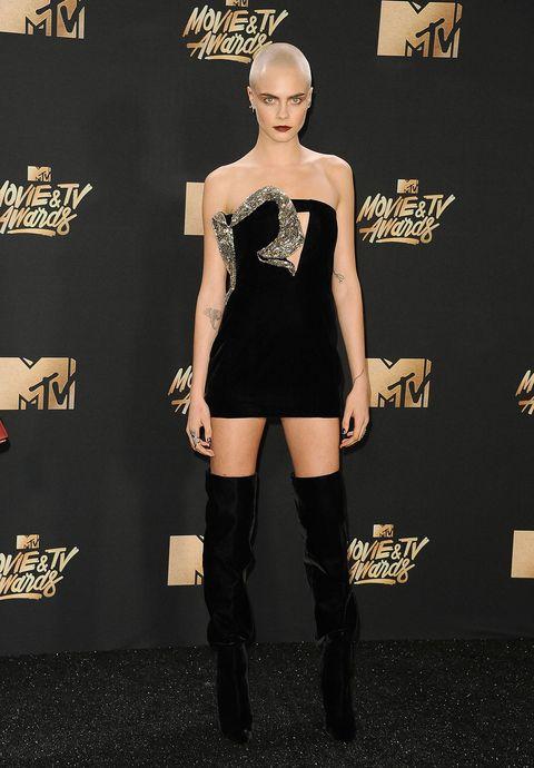 Human, Boot, Style, Fashion model, Dress, Knee-high boot, Waist, Fashion, Black, Knee,