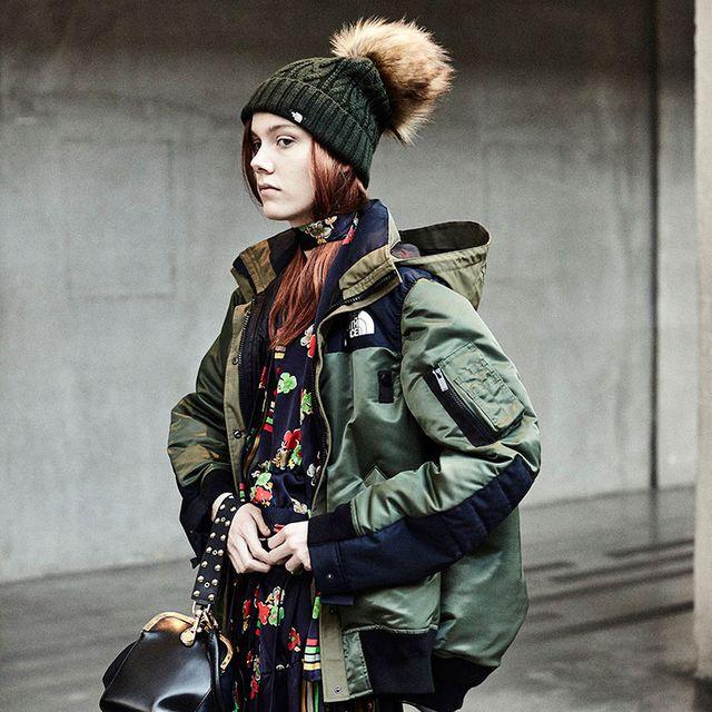 Clothing, Street fashion, Fashion, Parka, Jacket, Coat, Outerwear, Headgear, Fur, Sleeve,