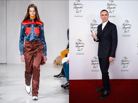 Fashion model, Clothing, Fashion, Suit, Runway, Fashion design, Formal wear, Footwear, Leg, Model,