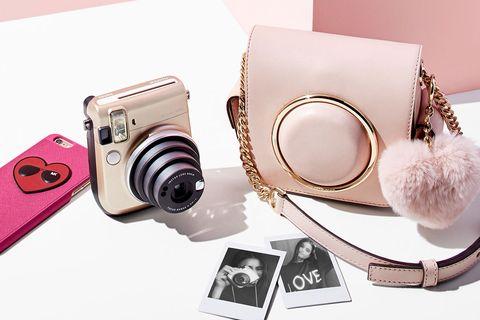 Product, Lens, Film camera, Camera, Camera lens, Pink, Camera accessory, Cameras & optics, Digital camera, Point-and-shoot camera,